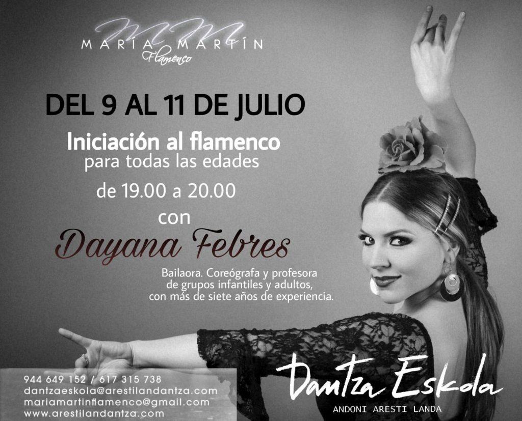 CURSO DE INICIACIÓN AL FLAMENCO DEL 9 AL 11 DE JULIO